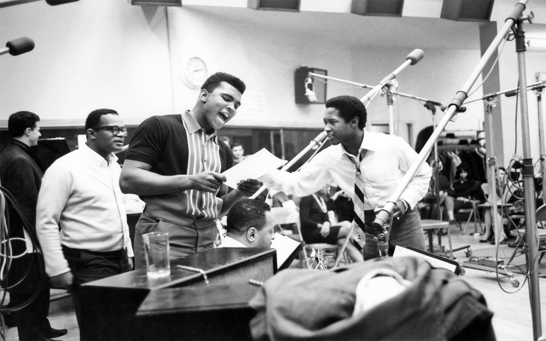 Muhammad Ali, Sam Cooke  18x28 inches Canvas Print