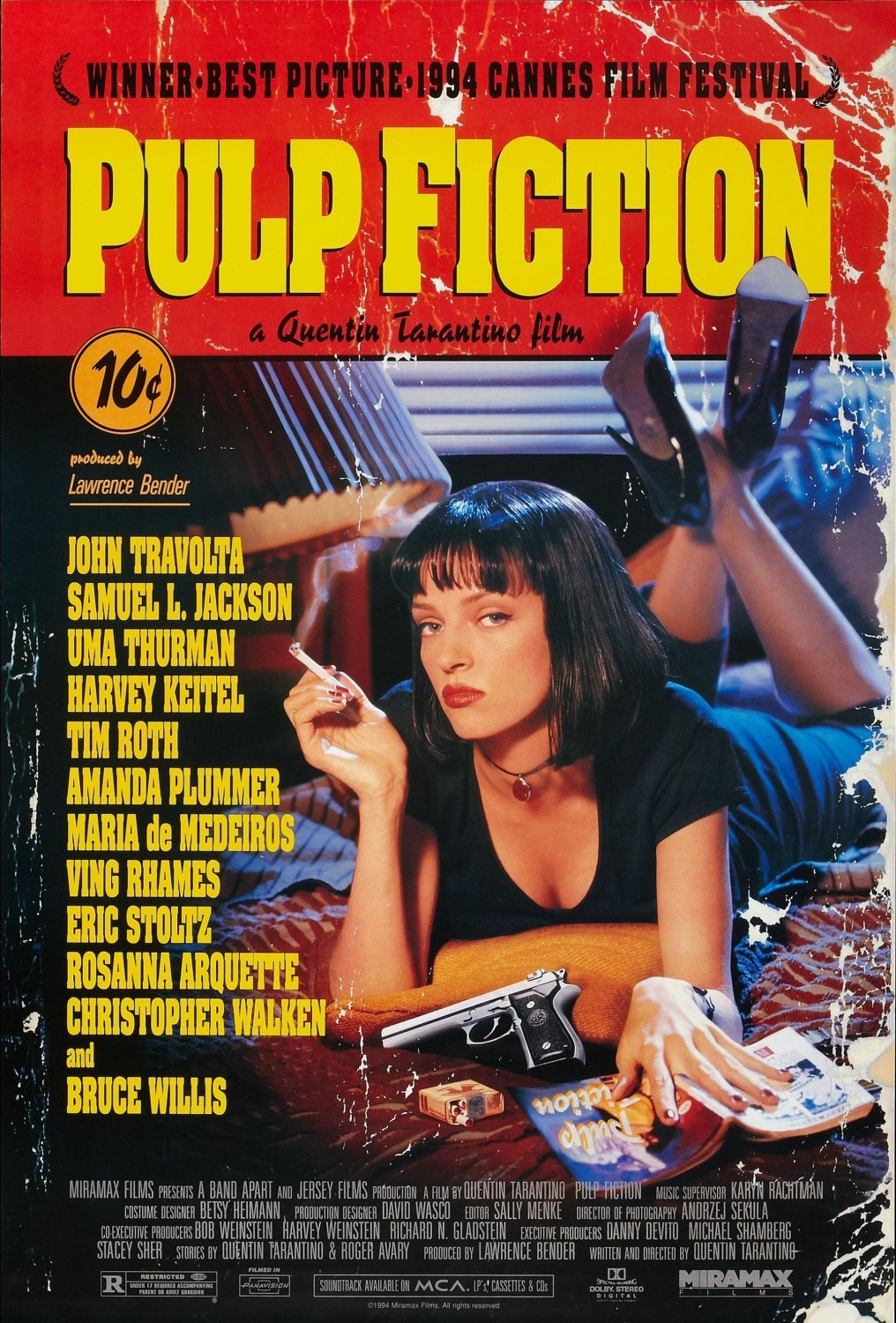 Pulp Fiction 18x28 inches Canvas Print