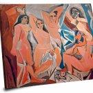 """Pablo Picasso, Les Demoiselles d'Avignon  18""""x18"""" (45cm/45cm)  Stretched Canvas"""