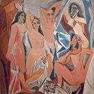 """Pablo Picasso, Les Demoiselles d'Avignon 18""""x18"""" (45cm/45cm) Canvas Print"""