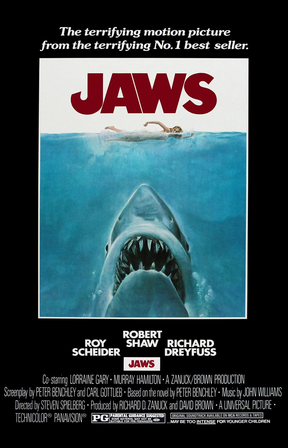 Jaws Movie   18x28 inches Poster Print