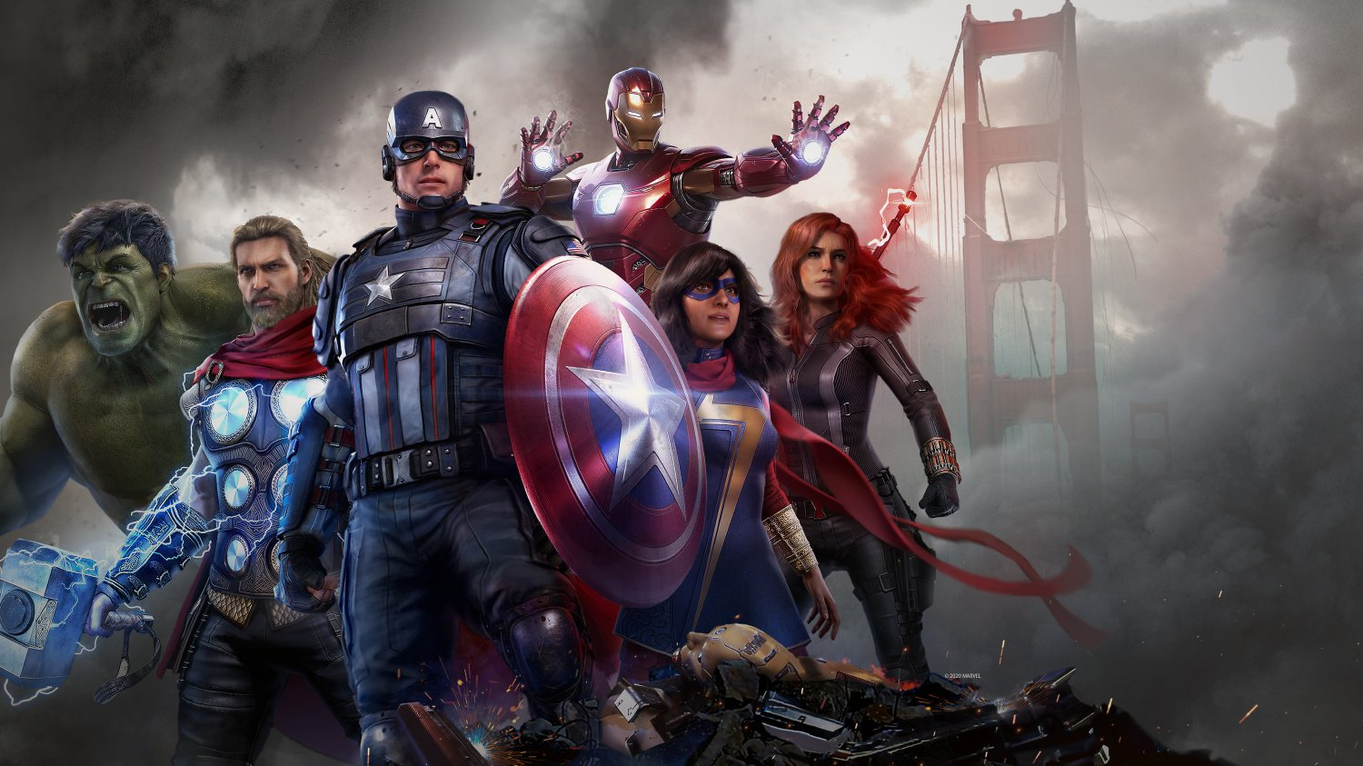 Marvel's Avengers Game  18x28 inches Canvas Print