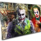 The Joker, Heath Ledger , Joaquin Phoenix ,Arthur Fleck  14x20 inches Stretched Canvas