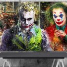 The Joker, Heath Ledger , Joaquin Phoenix ,Arthur Fleck  18x28 inches Canvas Print