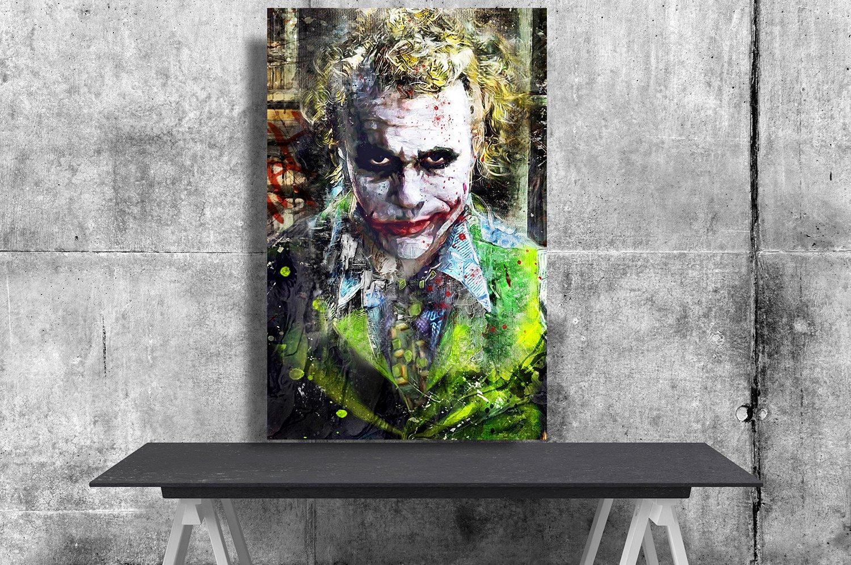 The Joker, Heath Ledger  13x19 inches Poster Print
