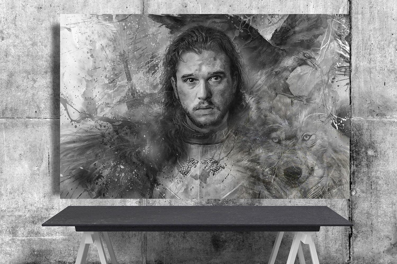 Game of Thrones,Jon Snow  18x28 inches Canvas Print