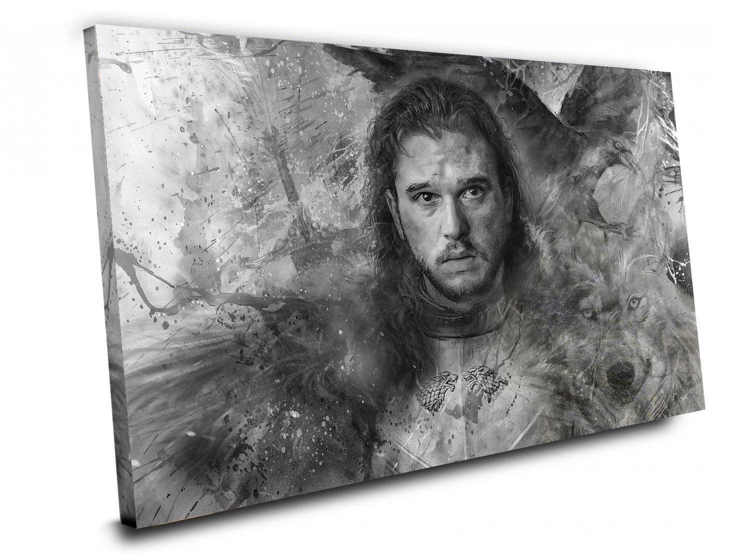 Game of Thrones,Jon Snow  14x20 inches Stretched Canvas