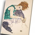 Egon Schiele Seated Woman  14x20 inches Stretched Canvas