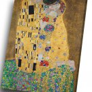 Gustav Klimt - The Kiss   14x20 inches Stretched Canvas