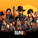 Red Dead Redemption 2 Game  24x35 inches Canvas Print