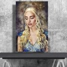 Game of Thrones, Daenerys Targaryen, Emilia Clarke  18x28 inches Canvas Print