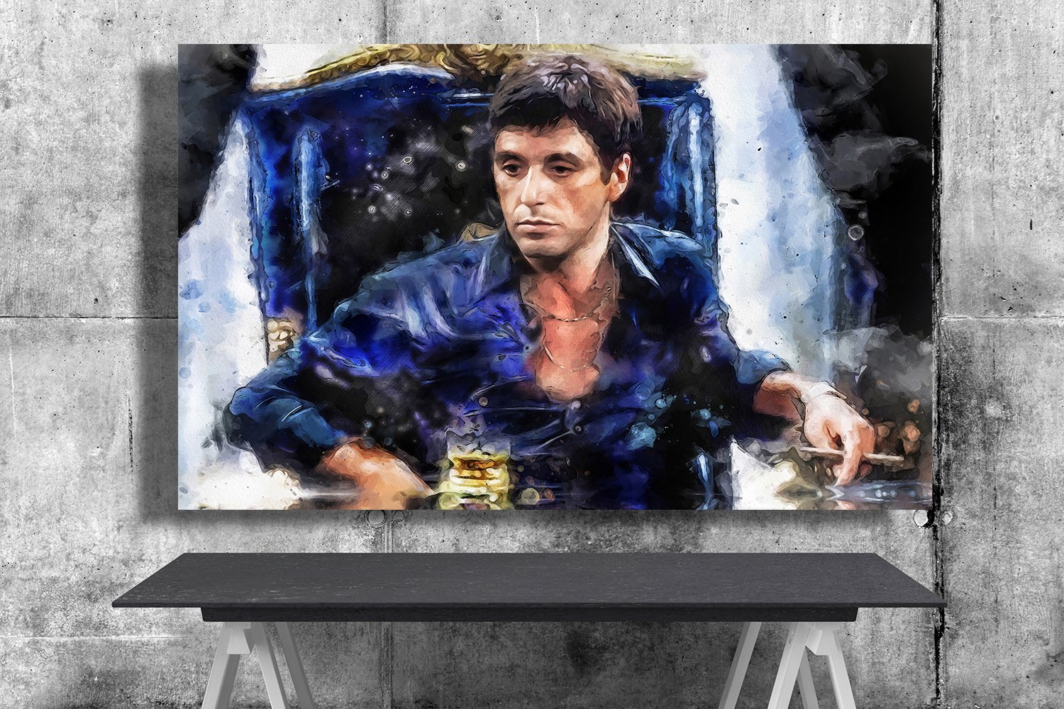 The Godfather Al Pacino  18x28 inches Canvas Print