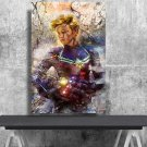 Captain Marvel  8x12 inches Canvas Print