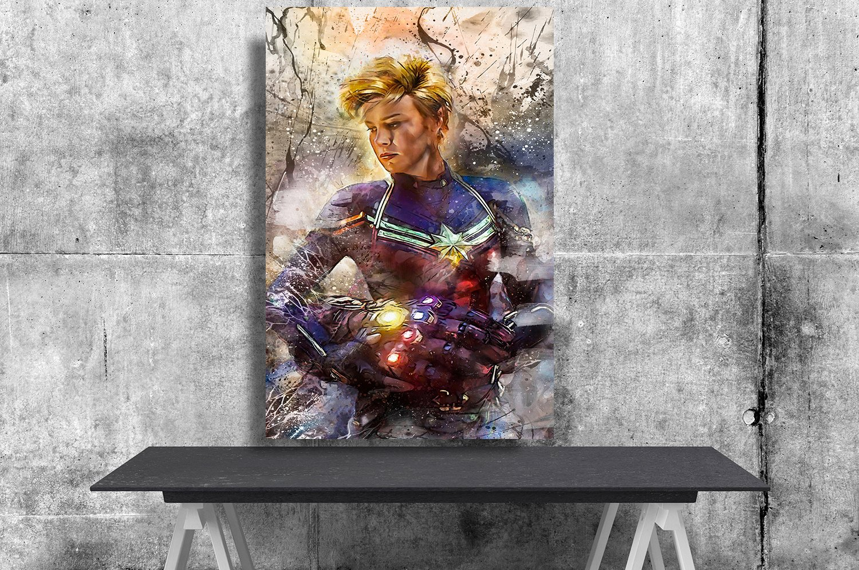 Captain Marvel   13x19 inches Canvas Print