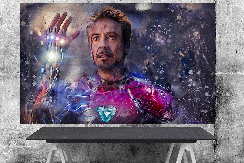 Iron Man Tony Stark   18x28 inches Canvas Print