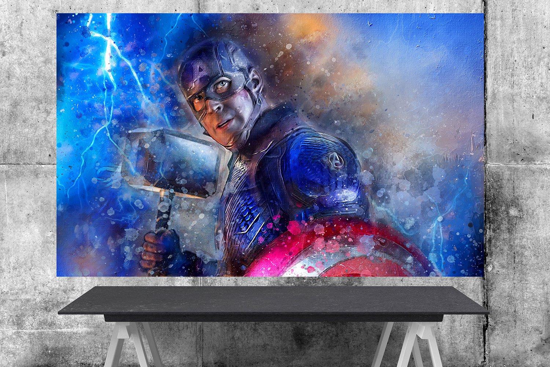 Captain America, Avengers Endgame, Chris Evans, Steve Rogers  8x12 inches Canvas Print