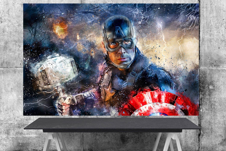 Captain America, Avengers Endgame, Chris Evans, Steve Rogers  18x24 inches Canvas Print