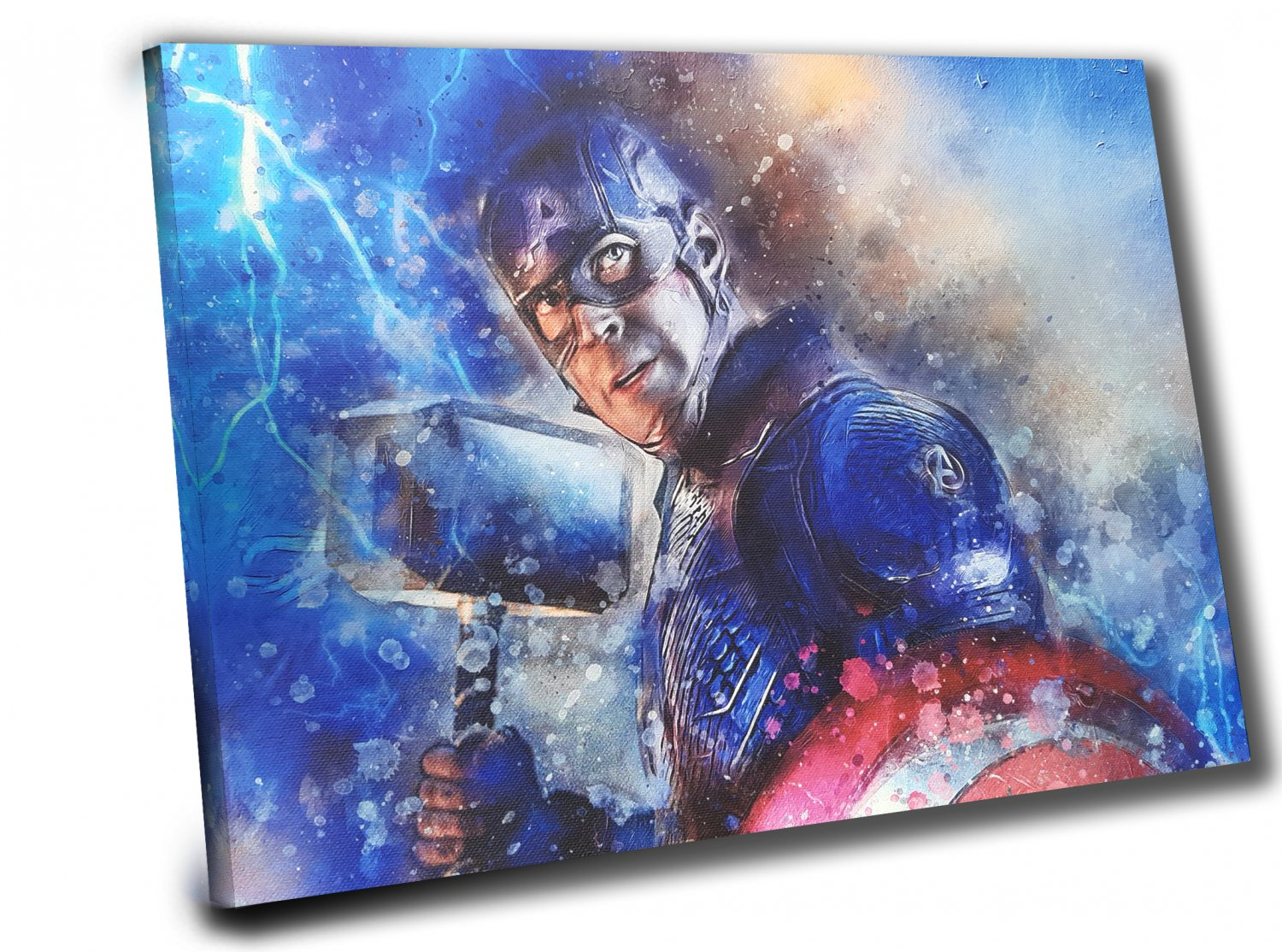 Captain America, Avengers Endgame   12x16 inches Stretched Canvas
