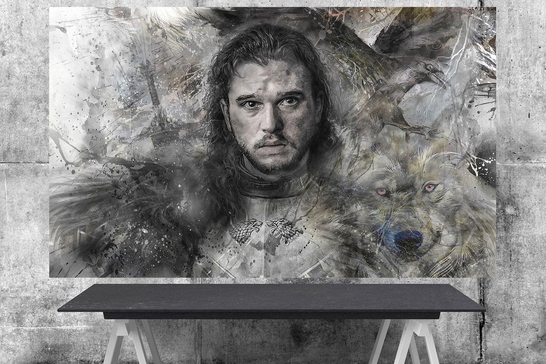 Game of Thrones,Jon Snow  24x35 inches Canvas Print