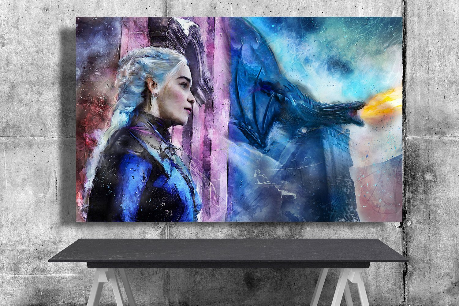 Game of Thrones, Daenerys Targaryen, Emilia Clarke  24x35 inches Canvas Print