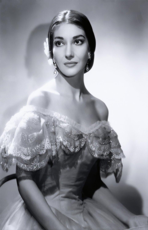 Maria Callas 24x35 inches Canvas Print