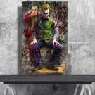 The Joker, Heath Ledger , Joaquin Phoenix ,Arthur Fleck  24x35 inches Canvas Print