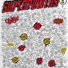 The Giant Omnibus of Superpowers Chart  24x35 inches Canvas Print