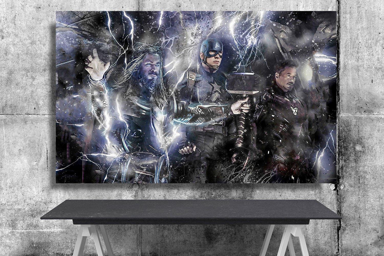 Avengers Endgame, Iron Man, Captain America, Thor 13x19 inches Poster Print