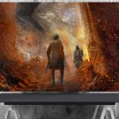 Game of Thrones, The Hound, The Mountain, Cleganebowl, 13x19 inches Canvas Print
