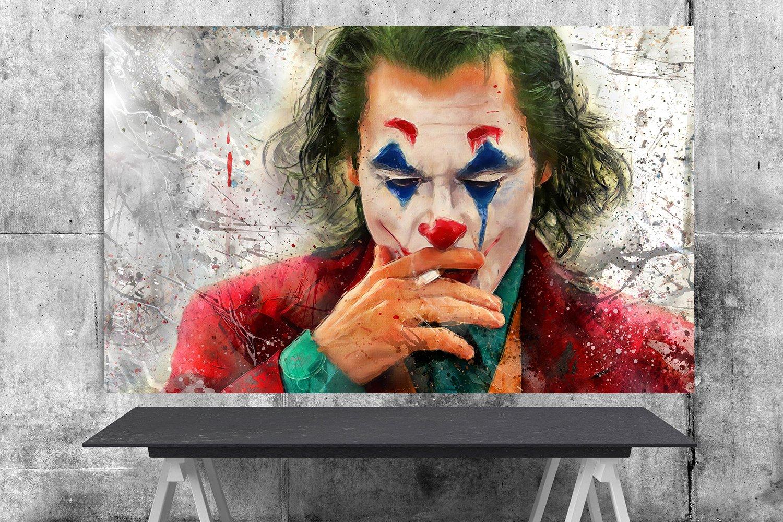 Joker Movie 2019 Joaquin Phoenix Arthur Fleck   8x12 inches Canvas Print