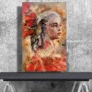 Game of Thrones, Daenerys Targaryen, Emilia Clarke  8x12 inches Canvas Print