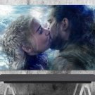 Game of Thrones, Daenerys Targaryen, Emilia Clarke,Jon Snow  8x12 inches Canvas Print