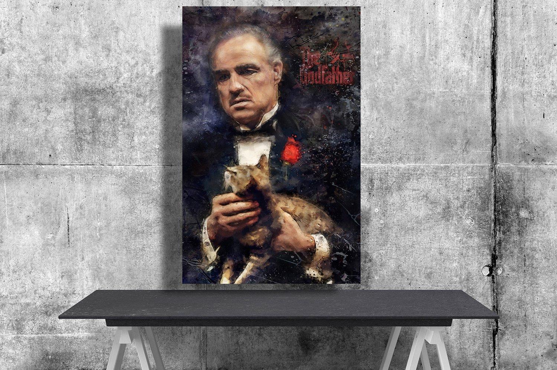 The Godfather, Vito Corleone, Marlon Brando   8x12 inches Canvas Print