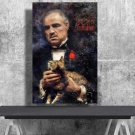 The Godfather, Vito Corleone, Marlon Brando  24x35 inches Canvas Print