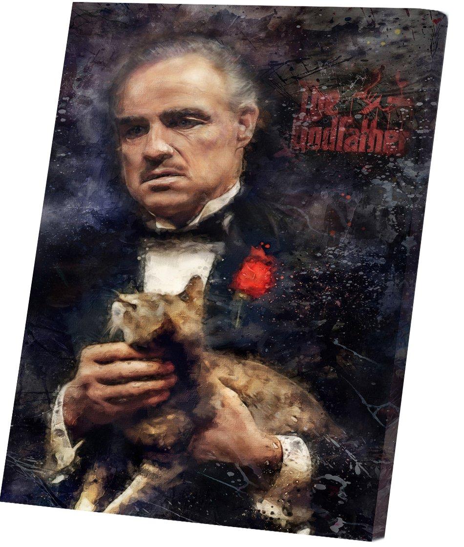 The Godfather, Vito Corleone, Marlon Brando  12x16 inches Stretched Canvas