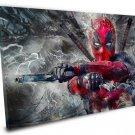 Deadpool  14x20 inches Stretched Canvas