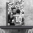 Muhammad Ali , Pele  18x28 inches Canvas Print