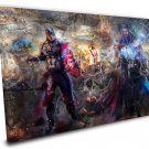 Captain America and Thor   14x20 inches Stretched Canvas