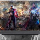 Captain America and Thor   24x35 inches Canvas Print