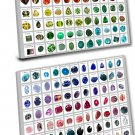 A list of Precious and Semi Precious Gemstones Chart 14x18 inches Stretched Canvas Bundle of 2