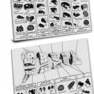 Beef Cuts Where they come from How to cook them  Chart 22x17 inches Stretched Canvas Bundle of 2