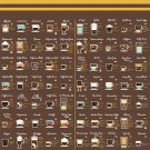 Around the World in 80 Coffees  18x28 inches Poster Print