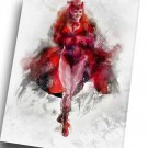 Scarlet Witch, Wanda Maximoff  14x20 inches Stretched Canvas