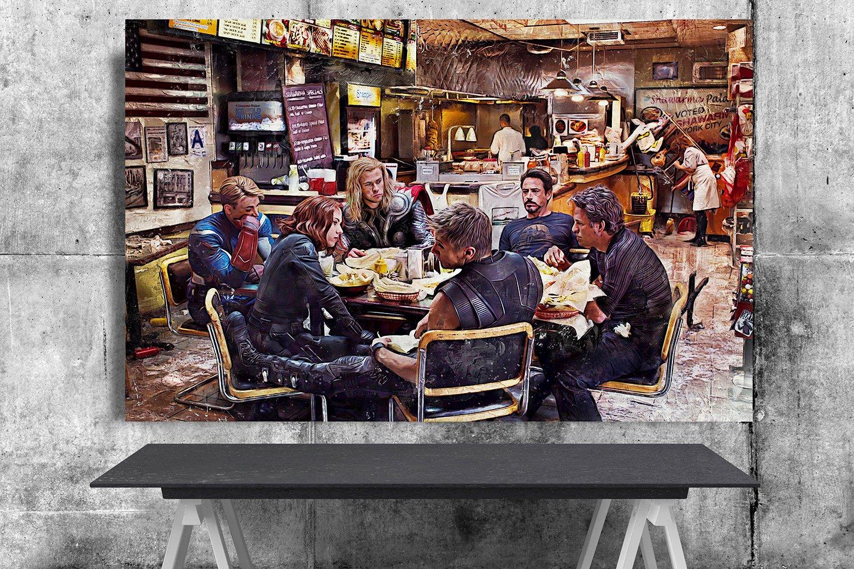 Avengers Endgame, Iron Man, Captain America, Thor, Captain Marvel,  Hulk  18x28 inches Poster Print
