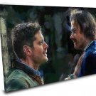 Supernatural Sam and Dean Winchester Finale 16x24 inches Stretched Canvas