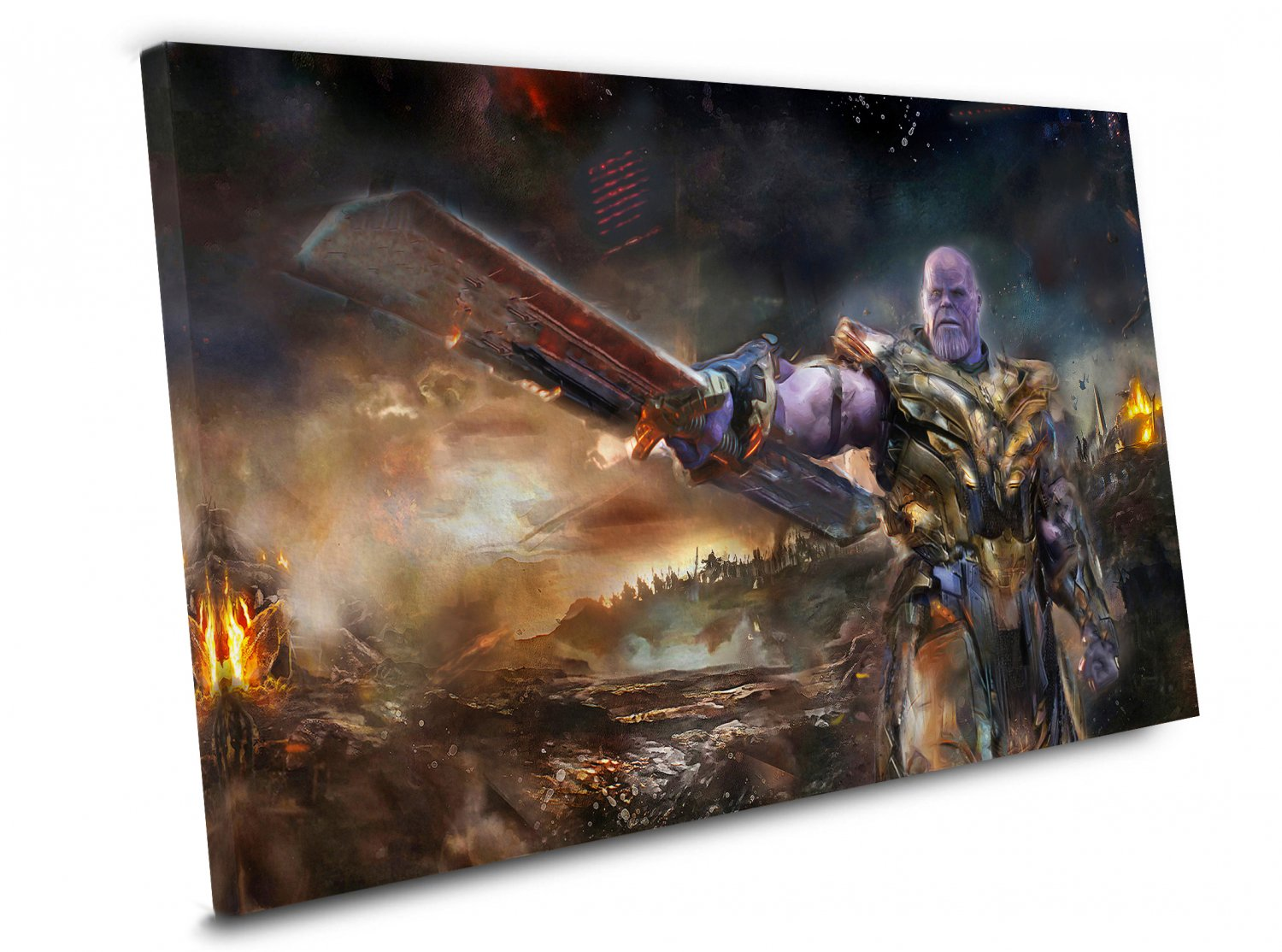 Avengers Endgame Thanos Army  16x24 inches Stretched Canvas