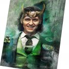 Loki ,Tom Hiddleston  14x20 inches Stretched Canvas