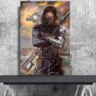 Winter Soldier Bucky Barnes  24x35 inches Canvas Print