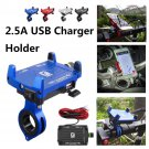 Motorcycle CellPhone Holder Handlebar Clip With USB Charger