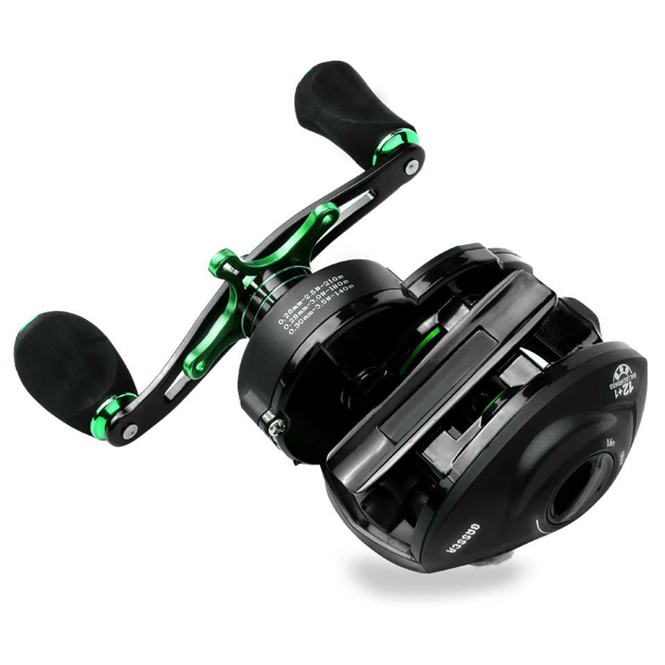 8KG Max Drag Super High Gear Ratio Baitcasting Fishing Reel with 24 Gear Magnetic Brakes